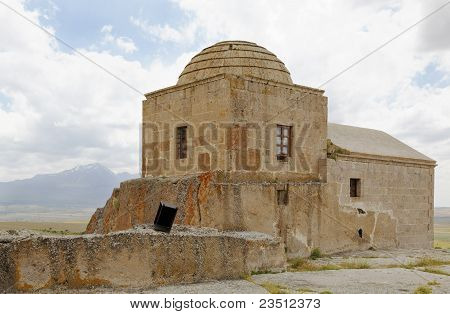 Disused Church With Dome Cappadocia Turkey
