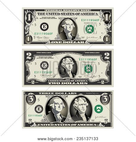 In This Graphic, The 1 And 2 Dollar Bills Are Mereged To Make A 3 Dollar Bill. Use In A Variety Of W