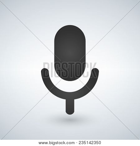 Microphone Icon. Vector Illustration Isolated On Modern Background