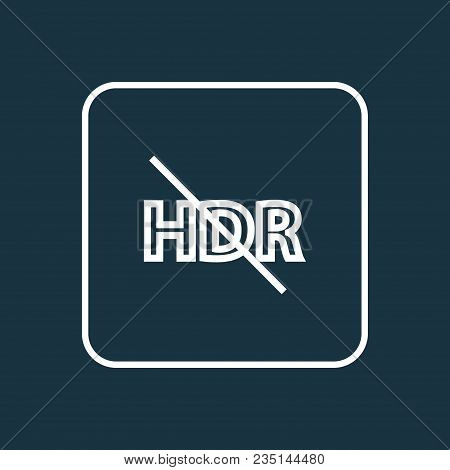 Hdr Off Icon Line Symbol. Premium Quality Isolated High Dynamic Range Element In Trendy Style.