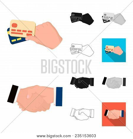 E-commerce And Business Cartoon, Black, Flat, Monochrome, Outline Icons In Set Collection For Design