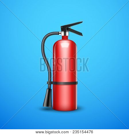 Fire Extinguisher Protection Isolated. Red Fire Extinguisher Emergency Danger Help Sign.