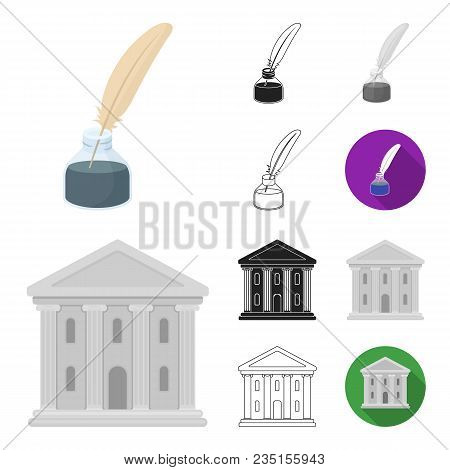 Theatrical Art Cartoon, Black, Flat, Monochrome, Outline Icons In Set Collection For Design.theater