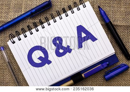 Conceptual Hand Writing Showing Q A. Business Photo Showcasing Ask Frequently Faq Asked Question Hel