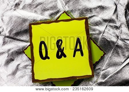 Text Sign Showing Q A. Conceptual Photo Ask Frequently Faq Asked Question Help Solving Doubt Query S