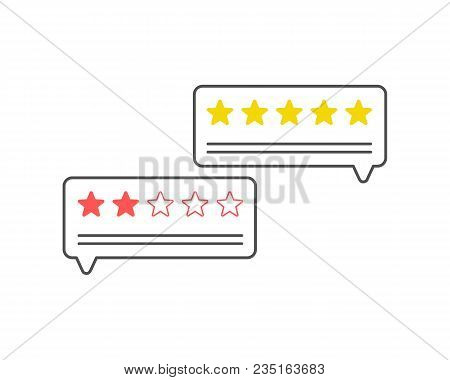 Feedback. Customer Review Communication Symbol, Concept Of Feedback, Testimonials, Online Survey, Ra