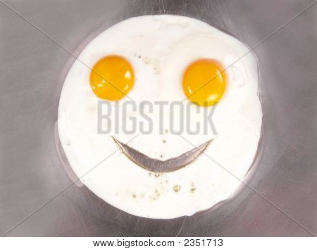 Happy Face Fried Eggs Sunny Side Up