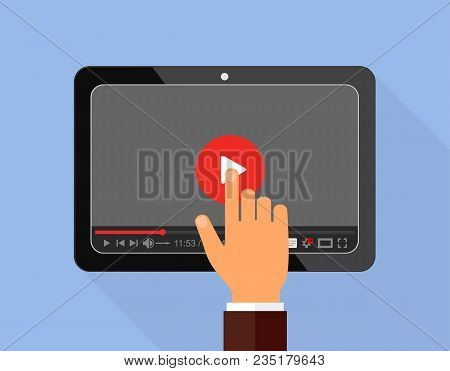 Video Tutorials Icon Concept. Study And Learning Background, Distance Education And Knowledge Growth