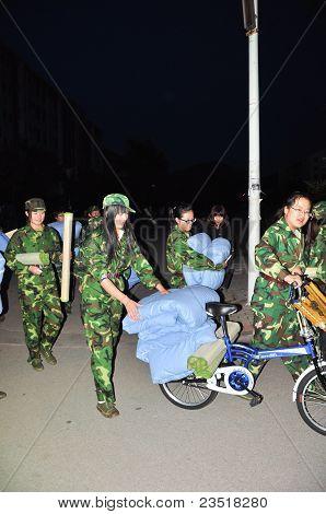Treinamento militar de noite