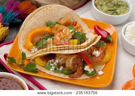 Two Shrimp Fajitas