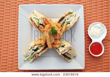 sandwich top view