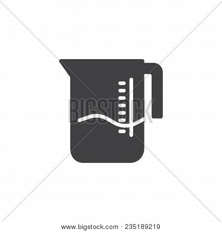 Measuring Cup Vector Icon. Filled Flat Sign For Mobile Concept And Web Design. Measuring Jug Solid I