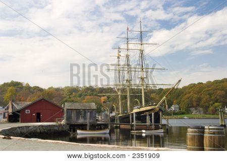 Tall Ship At Dock