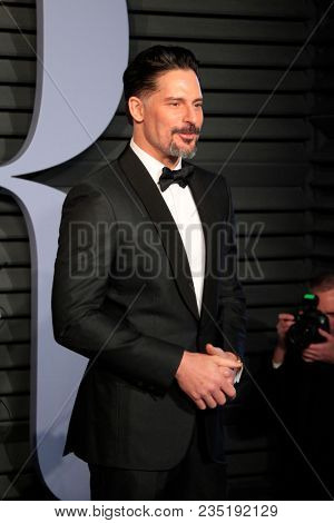 LOS ANGELES - MAR 4:  Joe Manganiello at the 24th Vanity Fair Oscar After-Party at the Wallis Annenberg Center for the Performing Arts on March 4, 2018 in Beverly Hills, CA