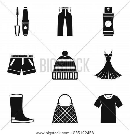Stylish Icons Set. Simple Set Of 9 Stylish Vector Icons For Web Isolated On White Background