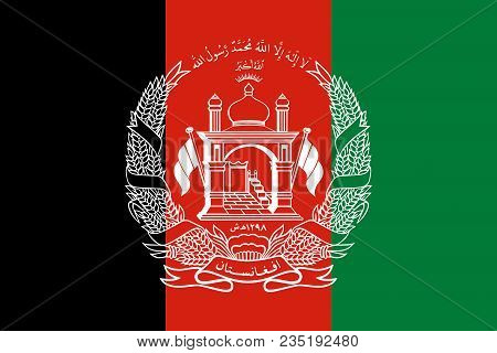 Flag Of Islamic Republic Of Afghanistan Official Colors And Proportions, Vector Image