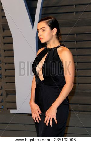 LOS ANGELES - MAR 4:  Charli XCX at the 24th Vanity Fair Oscar After-Party at the Wallis Annenberg Center for the Performing Arts on March 4, 2018 in Beverly Hills, CA