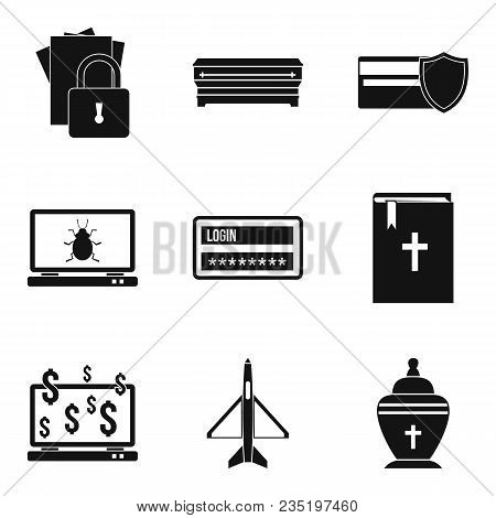 Damage Icons Set. Simple Set Of 9 Damage Vector Icons For Web Isolated On White Background