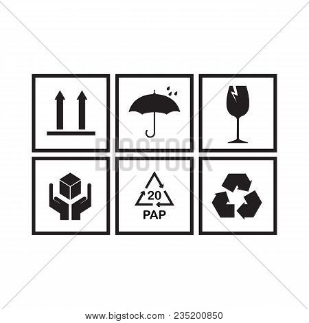 Packaging Symbols Set Vector & Photo (Free Trial) | Bigstock