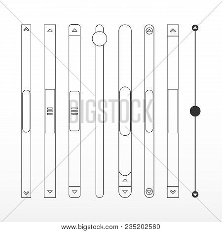 Scroll Bars Set Vector Photo Free Trial Bigstock