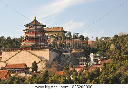 The Tower Of Buddhist Incense In The Summer Palace The Imperial Garden In Beijing
