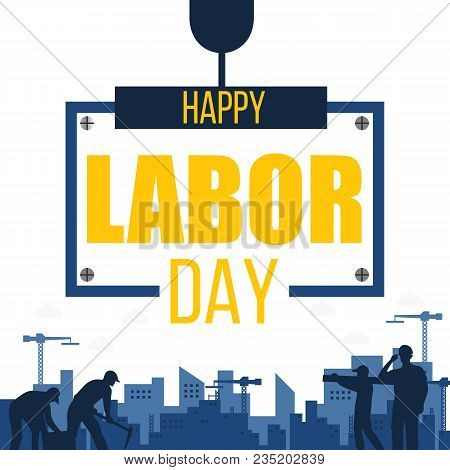 Happy Labor Day Worker Background Vector Image