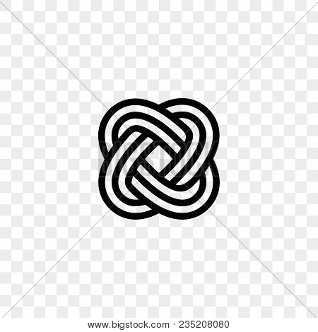 Heart Logo Vector Infinity Loop Icon. Isolated Modern Hearts Infinity Loop Line Symbol For Cardiolog
