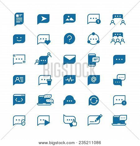 Speech Bubbles, Communication Chat, Talk Bubble And Thinking Balloon Vector Icons Isolated. Communic
