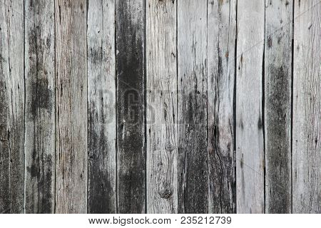 Close-up Detail Of Well Worn And Weathered Wooden Planks In Koh Lantah Old Town