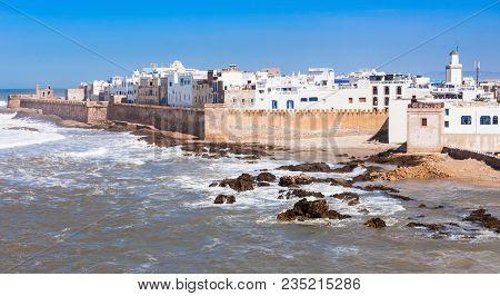 Essaouira Ramparts In Essaouira, Morocco. Essaouira Is A City In The Western Moroccan Region On The