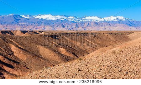 High Atlas, Also Called The Grand Atlas Mountains Is A Mountain Range In Central Morocco In Northern