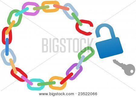 Key to a breakout unlocks a broken circle chain to escape