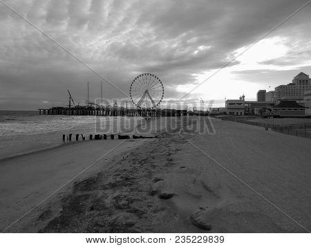 coastline of Atlantic City New Jersey