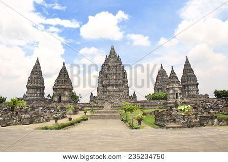 Shrine of Prambanan hindu temple, Yogyakarta, Central Java, Indonesia. UNESCO world heritage site