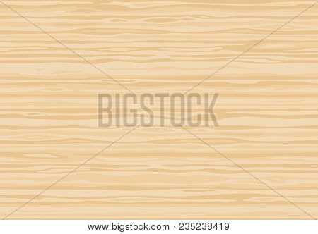 Natural Light Beige Wooden Wall Plank, Table Or Floor Surface. Cutting Chopping Board. Сartoon Wood