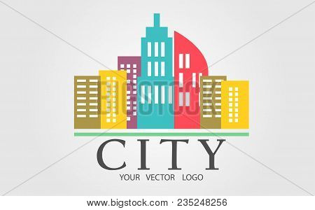 Logo Of A Color City. Vector Illustration.