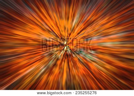 Psychedelic Hypnotic Unrealistic Abstract Speedy Red Background, Motion Blur Effect, Zoom Motion Blu