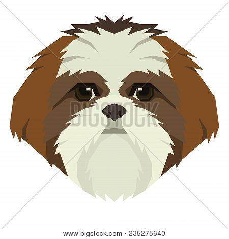 Dog Collection Shih Tzu Geometric Style Avatar Icon Set