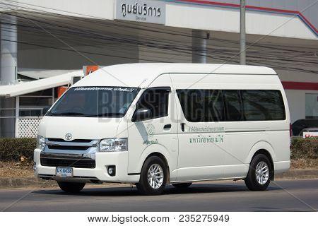 School Bus Van Of Maejo University.