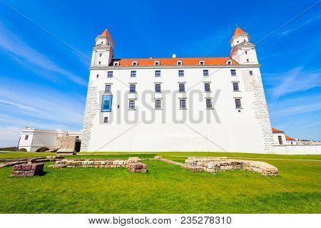 Bratislava Castle Or Bratislavsky Hrad Is The Main Castle Of Bratislava, Capital Of Slovakia. Bratis