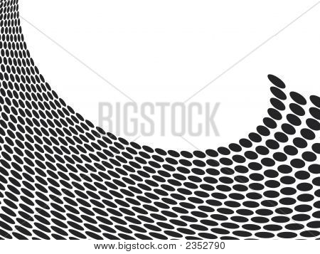 abstract halftone wave in black and white with room to add your own text poster
