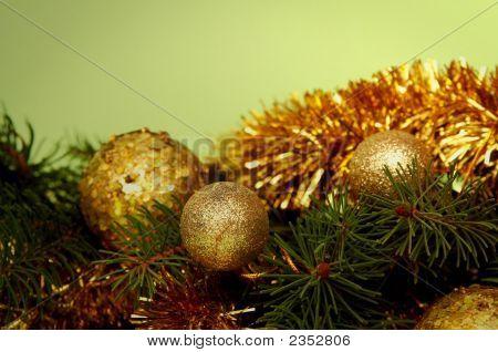 Golden-Green Christmas Decoration