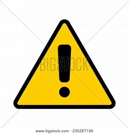Warning Sign. Attention Icon. Exclamation Point. Vector Illustration.