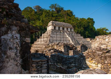Ancient Ruins Of Palenque, Maya City In Chiapas, Mexico