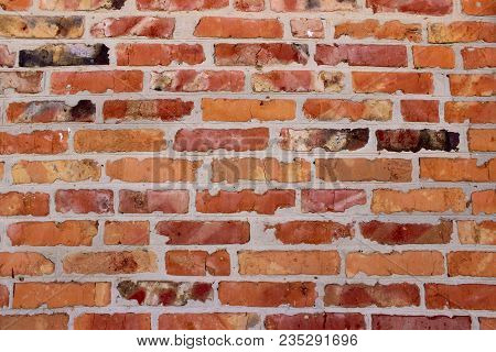 Cropped Shot Of A Face Brick Wall. The Wall. Old Brick Wall Background.wall Texture Grunge Backgroun