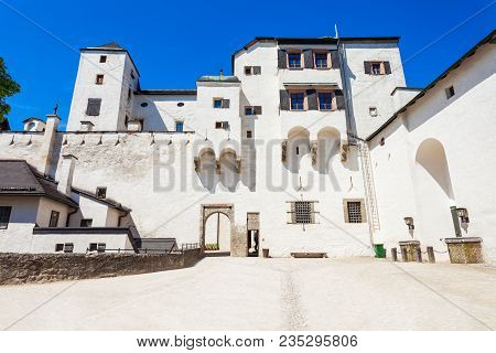 Hohensalzburg Castle Or Festung Hohensalzburg Fortress On The Top Of Festungsberg Hill In Salzburg C