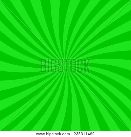 Green Abstract Spiral Design Background - Vector Graphics