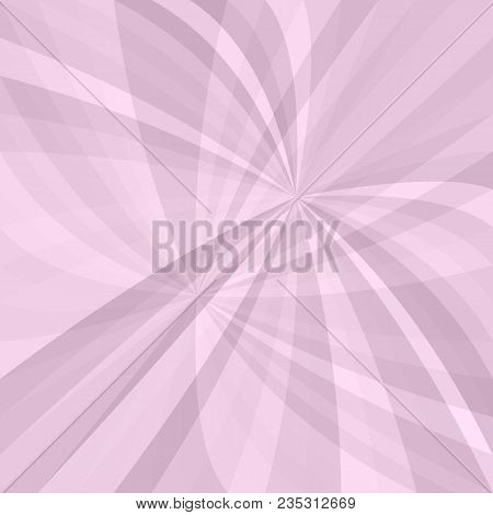 Pink Curved Ray Burst Background - Vector Design From Swirling Rays