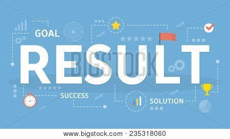 Results Concept Illustration. Idea Of Profit And Success.