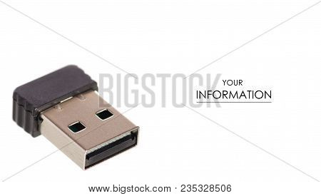 Bluetooth Usb Adapter Pattern On White Background Isolation